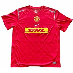 Nike Manchester United DHL Red Training Jersey XL
